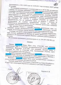 Решение Кировского районного суда