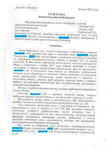 Решение фрунзенского районного суда-1